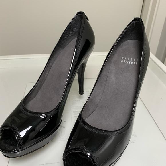 Stuart Weitzman Shoes - Stuart Weizman Patent Platform Leather Black Heels